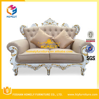 American popular comfortable classic leather sofa with cushion