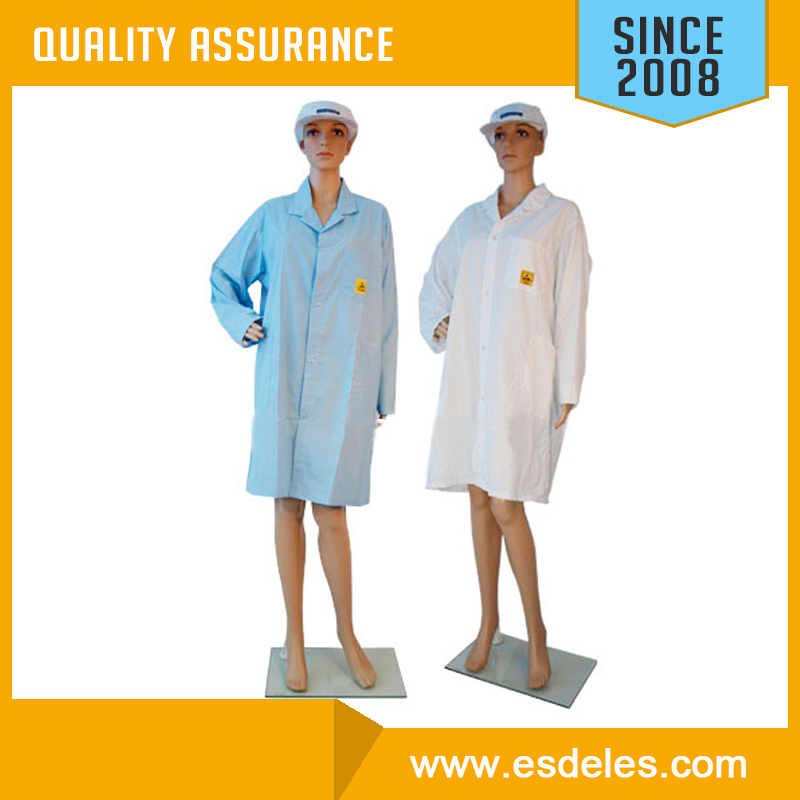 OEM 5mm grid Antistatic cotton coat esd smock anitstatic cotton smock
