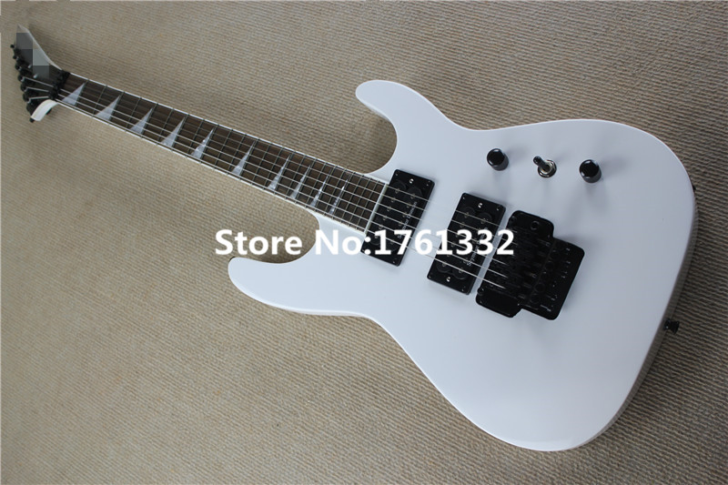 factory custom beautiful white jackson electric guitar with floyed rose bridge and basswood body. Black Bedroom Furniture Sets. Home Design Ideas