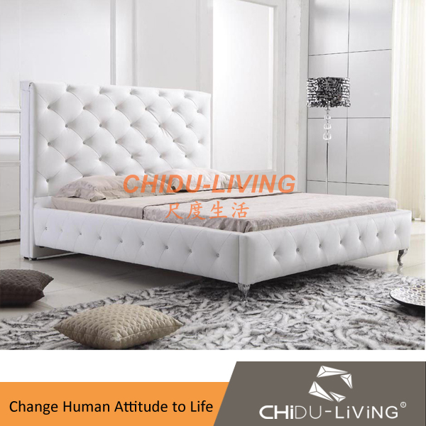 White leather bedroom sets