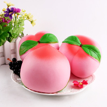 NEW 6CM 11CM Jumbo kawaii Squishy Slow Rising Peach Pendant Phone Straps Charms Queeze Kid Toys Slow Rising Fun Toy