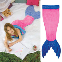 Fleece mermaid tail blanket