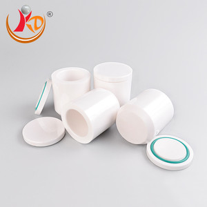 wholesale Zirconia / Zirconium Oxide ceramic milling jar with rubber ring