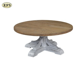Antique Round Solid Wooden Cocktail Coffee Table Pine Tea Tray Table View Modern Art Antique Pine Coffee Table Efs Product Details From Efs Furniture Co Ltd On Alibaba Com