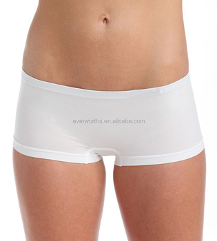 aa99633acf3a Women Seamless Solid Plain Super Stretchy Boxer Briefs - Buy ...