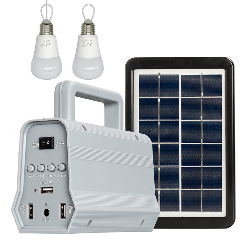 Outdoor 2in1 portable solar for home power system with MP3 Speaker bluetooth