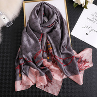 Wholesale 2020 new style fashion women's designer scarves luxury brand pattern custom long turkish silk scarf
