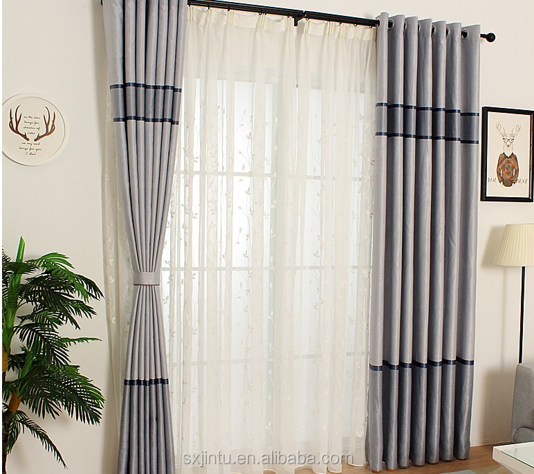 Embroidered Silk Curtains Of Organza Sheer And Leaf Design Curtain