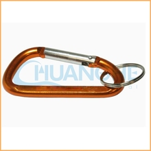 OEM Professional manufacture aluminum lock orange locking carabiner