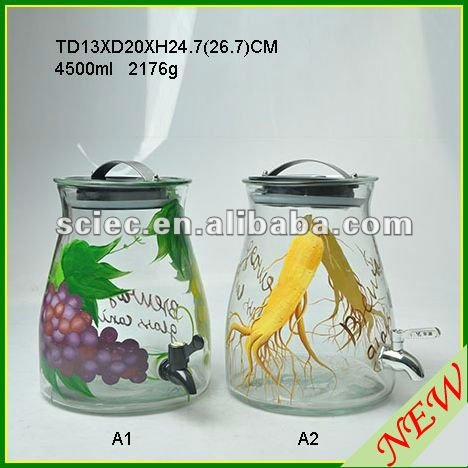 Glass Beverage Container
