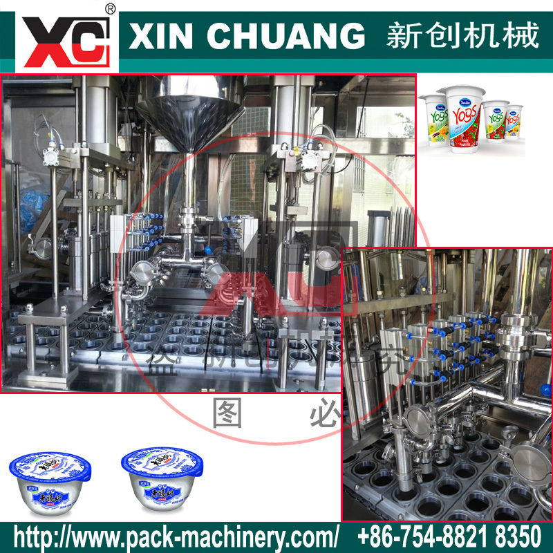 machinery yogurt packing