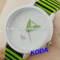 Womage Zebra Big Leather Watch Cool Design