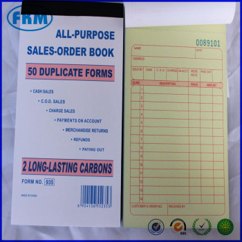 Sales Order Books Receipt Set Wholesale  Duplicate Carbonless