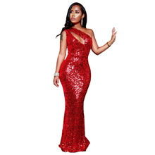 MUXU sexy red sequin dress women fashion glitter woman clothes party kleider  elbise vestidos robe femme d8dfff6070fb