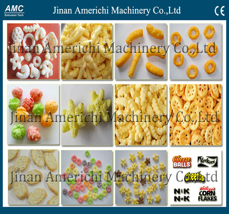 150kg/h,Automatic expand Corn snacks extruder