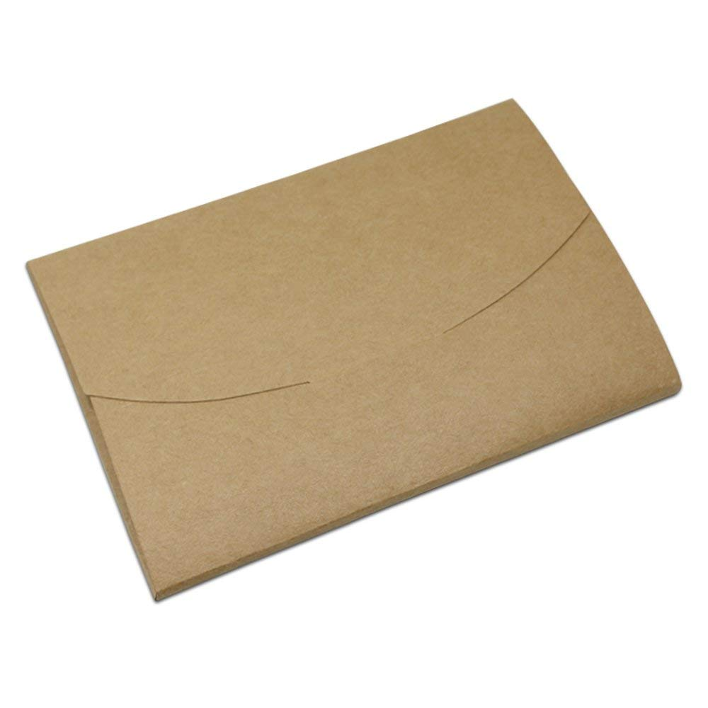 Multiply Size Brown Kraft Paper Envelopes Package Boxes Craft Paper Envelope Postcard Invitation Letter Package Box for Party Wedding Birthday Bridal (6.69x4.33x0.24 inch(17x11x0.6 cm/30 pcs))