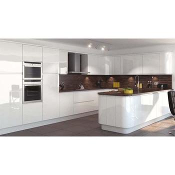 Design-hochglanz-vinylverpackung Türen Vorgefertigten Schränke Küche ...