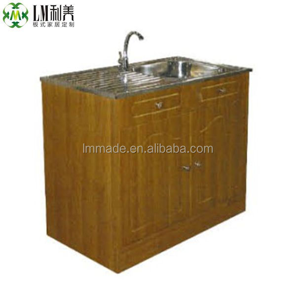 Knock Down Ready Made Kitchen Cabinet With Sink(914) - Buy Kitchen ...