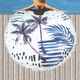 Summer Custom Design Circular Beach Towel