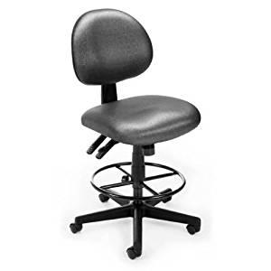 OFM 241-DK-TEA Elements 24 Hour Task Chair With Drafting Kit, Tweed Tea
