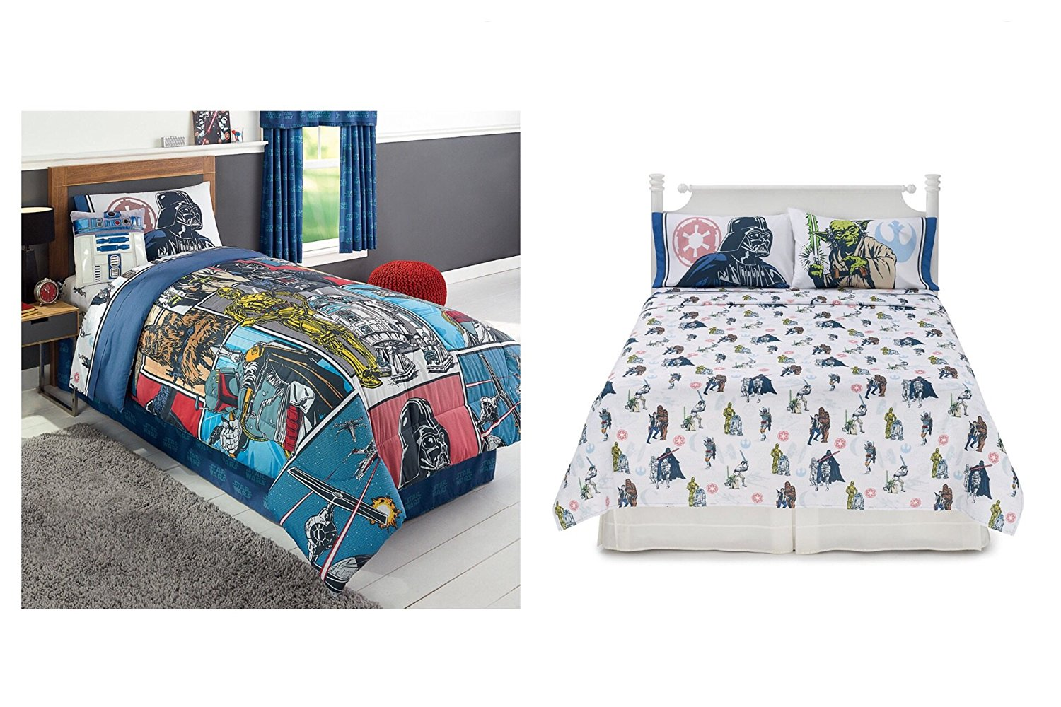 rebels dp amazon blue kitchen com wars comforter pieces home twin star reversible set
