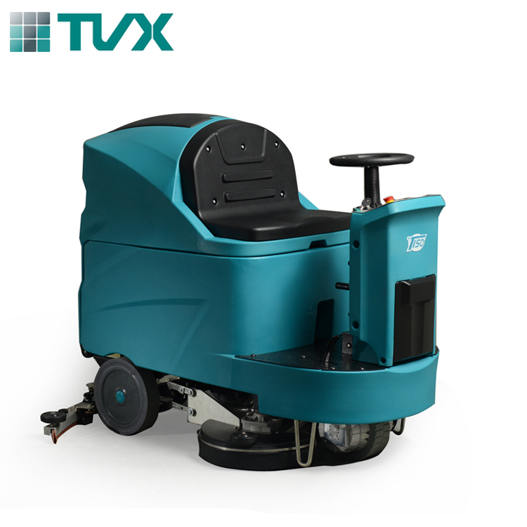 China supply Industrial automatic large ride on floor scrubber machine for sale