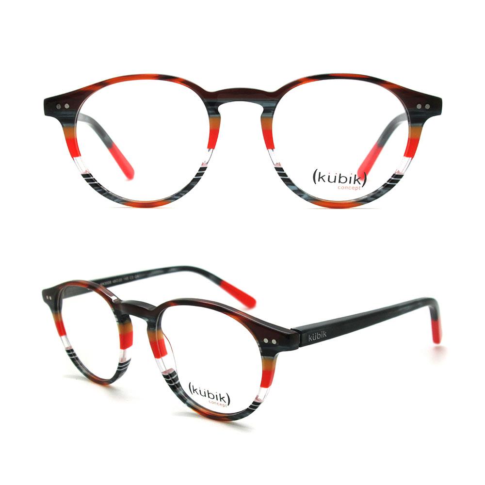 0e7bea38e5 KK3008 2018 New Stylish Custom Brand Name Ladies Designer Orange Spectacle  Glasses Strip Eyewear Frames from China