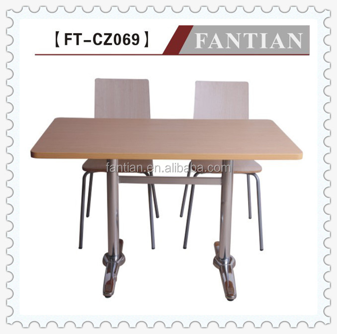 modern wooden dining table and chairs with aluminum base for sale