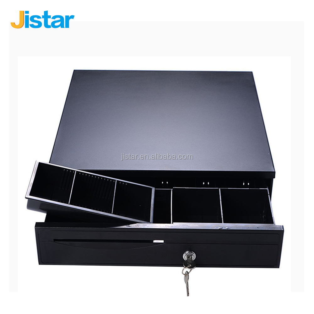 Jistar Cash Registers Drawer Money Safe Storage Box 5 Coin Bill Tray Replacement for retail shop