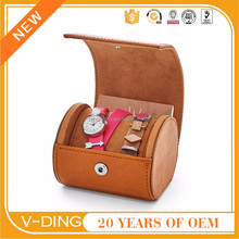vding from China professional supplier of high quality leather circular storage box for watch