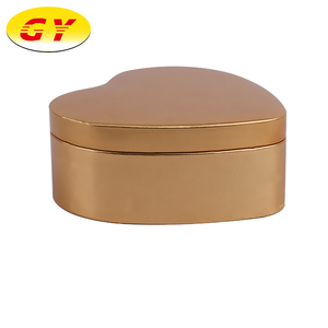 Custom heart shaped metal tin gift boxes wholesale