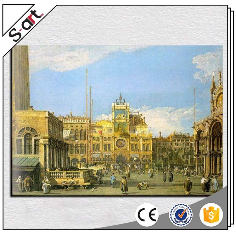 China factory price fast delivery castle alcazar building chinese style landscape oil painting
