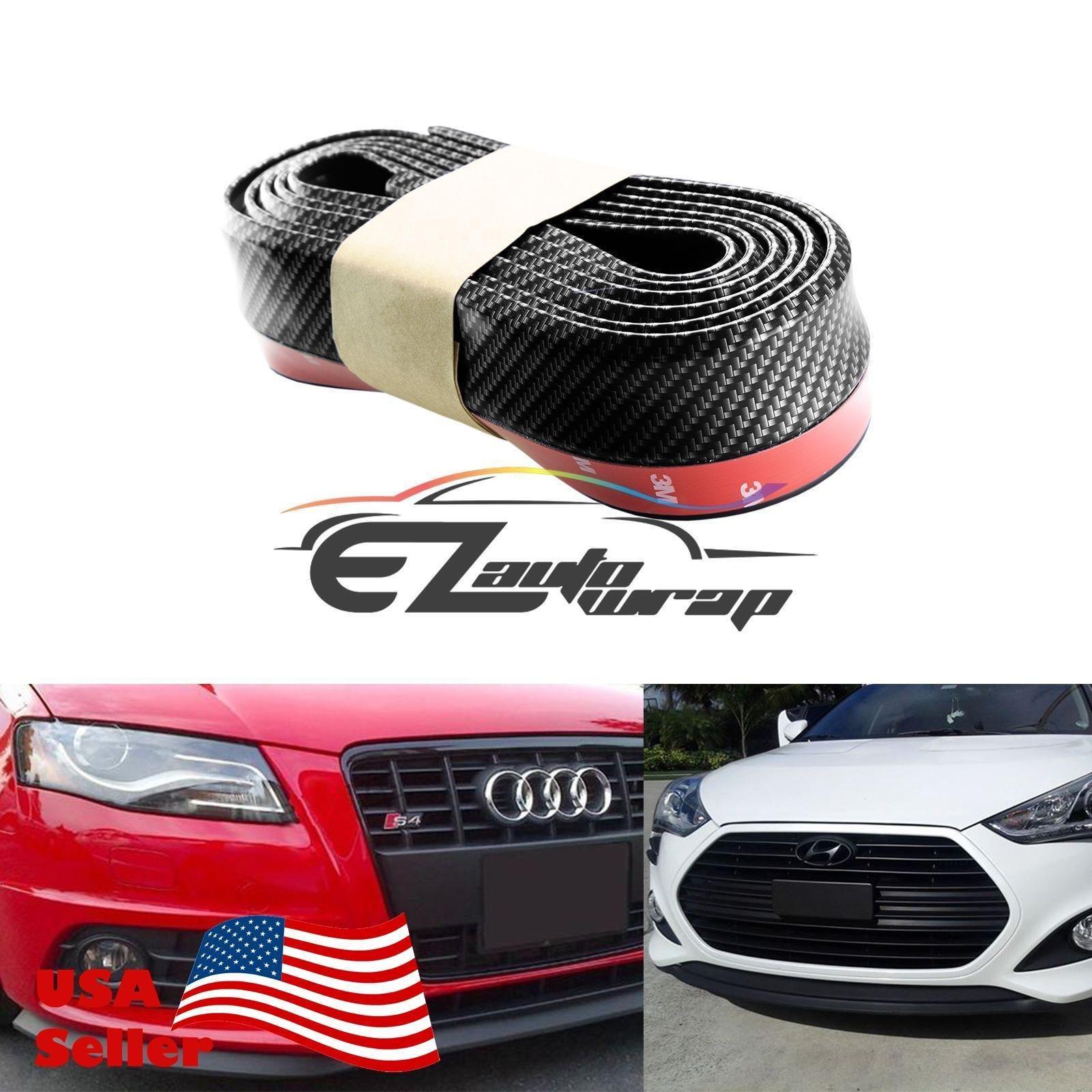 Car Black Front Bumper Rubber Protector Lip Splitter Body Spoiler Universal 98 Inch Whitelotous Universal Car Front Spoiler