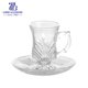 Middle East style glass tea cup and saucer set , Cappucinno Cup&Saucer Set Coffee Drinking Set , arabic coffee and tea sets