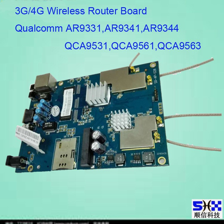 High power outdoor wireless wifi CPE/AP/Router/Bridge/Repeater PCBA, Atheros AR9331, wifi Modul Router PCB Board