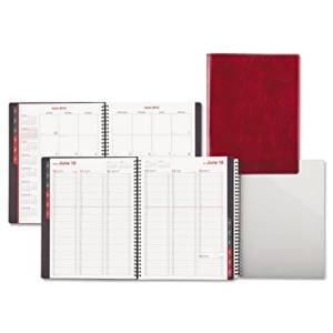 Day-Timer Fashion Recycled Wire-Bound Weekly and Monthly Appointment Planner, 8 x 11 Inches, Red, January - December, 2013 (D33353-1301)