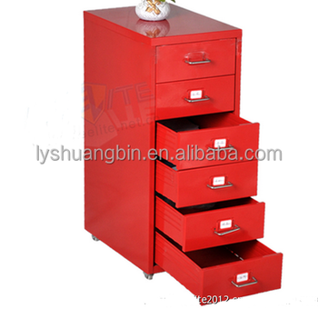 rust proof red office 6 drawer file cabinet furniture with wheel rh alibaba com red barrel studio file cabinet vc_red cabinet file
