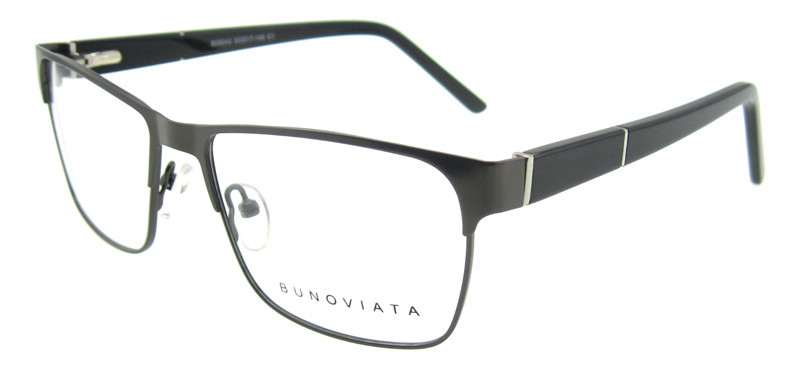 2015 designer glasses frames for men black full rim prescription glasses silver metal pin of temple