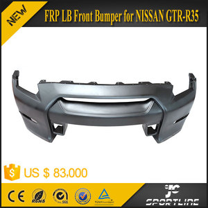 Black Primming FRP Front Bumper for GTR-R35 LB Style 09-15