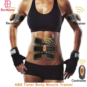 Top Beauty 2018 Abdominal Toning Belt Waist Trainer Gym Workout And Home Fitness Apparatus For Men Women(With USB Line)