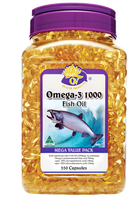 Organic Nature Omega-3 fish oil 550 Capsules health supplements