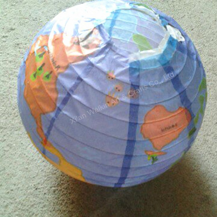 Decorations paper globe lamp
