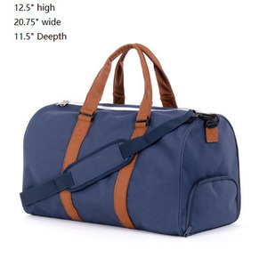 high-end Smell Proof Duffle Bag with pu leather trim