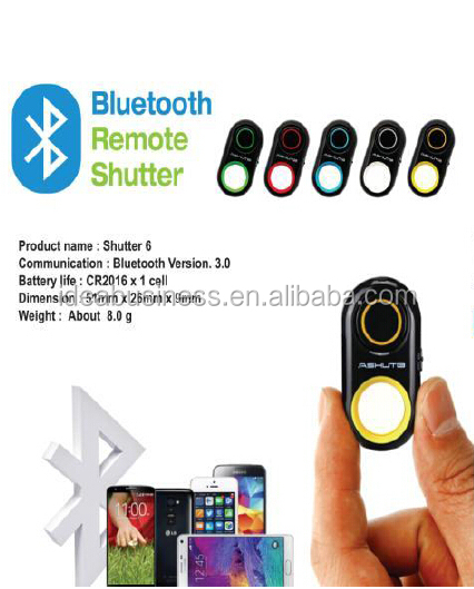2018 New Factory Price Fashion Bluetooth remote shutter, Wireless self timer for smartphone camera
