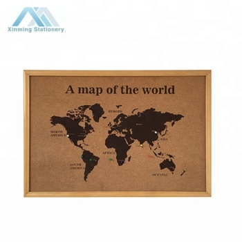 CORK BOARD WELTKARTE Kork Hinweis WALL Board & Pins TRAVEL ATLAS