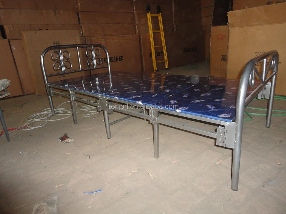 Plywood Base Folding Metal Single Bed - Buy Metal Bed ...
