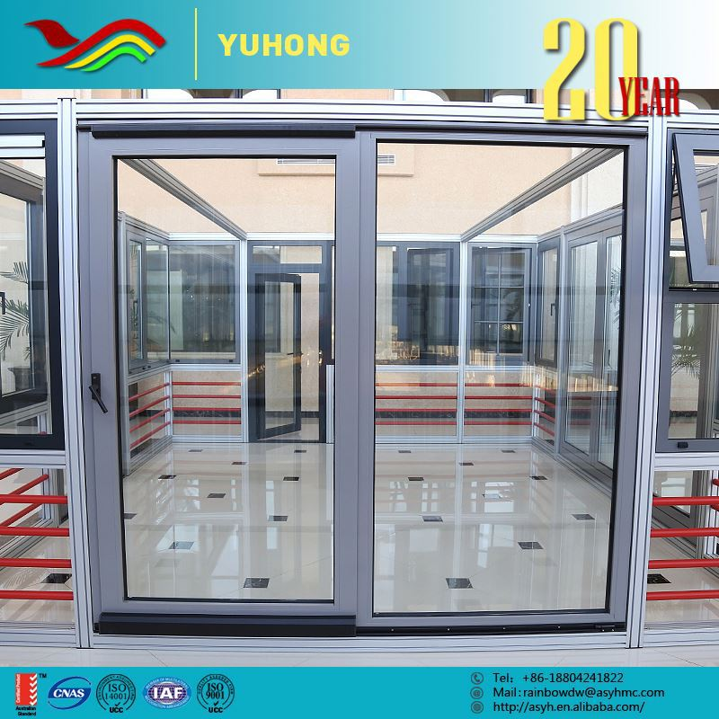 Entry Front Door Tempered Glass Revolving Doors Inserts