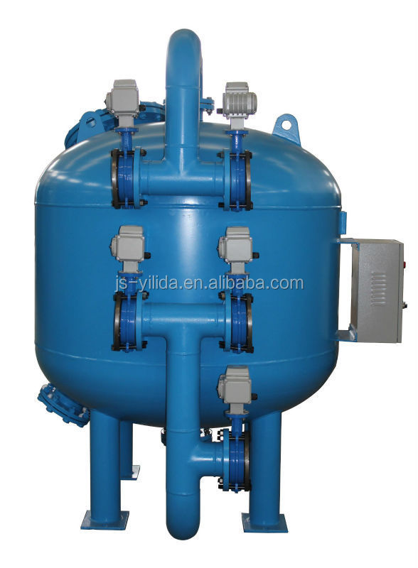 Quartz Sand Filter : Automatic backwash silica sand filter for cooling tower