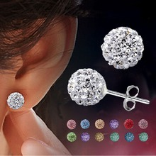 Earring fine bijoux jewelry brincos crystal Polymer clay candy women pendientes brand orecchini sapphire start sapphire ohrringe