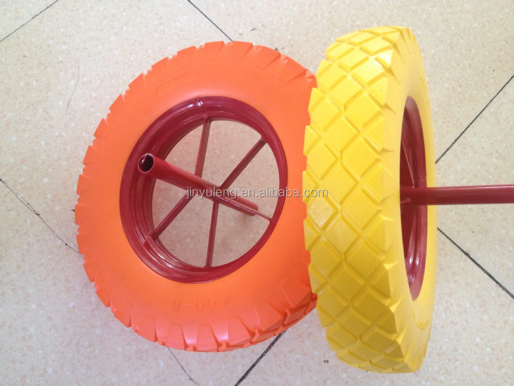 hot seal steel rim spoke style wheelbarrow WB 6400 16 inch 400-8 wheel barrow pu foam wheel sold wheel Middle East